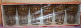 Teegläser aus Marokko, goldfarben und braun, Packung mit 6 Stück - Bild vergrößern